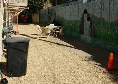The Roxbuy 1 backyard
