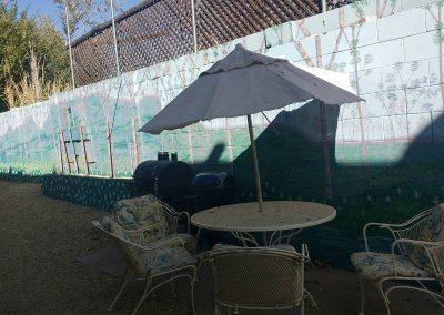 The Roxbuy 10 backyard